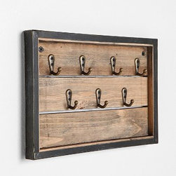 Reclaimed Wood Key Hook - I don't know about you, but I am always losing my keys and could benefit from a holder of some kind. This one comes with reclaimed wood slats and sturdy key hooks.