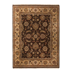 Jaipur Rugs - Hand-Knotted Oriental Pattern Wool  brown/Tan Area Rug - Beautifully mastered in every detail and nuance, the rugs of the Opus collection define accessible luxury. Hand-spun wool is crafted into distinctive rugs, passing through an advanced dyeing system that renders a color that looks vegetable-dyed, but is colorfast and enduring for generations to come. Traditional designs with transitional practicality headline Opus, in rich palettes that command attention. Hand-knotted mastery flows in each tuft of yarn, giving life to these brilliant and intriguing pieces.