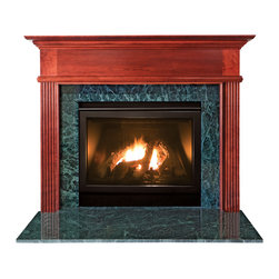 """Forshaw - Kensington MDF Primed White Fireplace Mantel Surround - 42 inch - Model: SYE-42KENMDF-PRIME. Primed Mantel. Simple elegance and understated styling. For home use. Ready to install. Dimensions: 53"""" (W) x 42"""" (H) x 5.5"""" (L) x 70"""" (OL) x 55.25"""" (OH) x 7"""" (S). This (MDF Primed White) mantel is ready to be painted."""