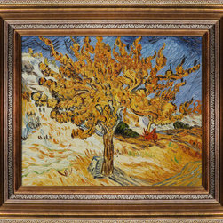 "overstockArt.com - Van Gogh - The Mulberry Tree Oil Painting - 20"" x 24"" Oil Painting On Canvas Hand painted oil reproduction of one of the most famous Van Gogh paintings, The Mulberry Tree. The original masterpiece was created in 1889. Today it has been carefully recreated detail-by-detail, color-by-color to near perfection. Why settle for a print when you can add sophistication to your rooms with a beautiful fine gallery reproduction oil painting? Vincent Van Gogh's restless spirit and depressive mental state fired his artistic work with great joy and, sadly, equally great despair. Known as a prolific Post-Impressionist, he produced many paintings that were heavily biographical. This work of art has the same emotions and beauty as the original by Van Gogh. Why not grace your home with this reproduced masterpiece? It is sure to bring many admirers!"