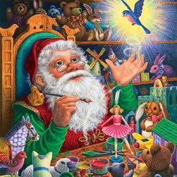 Magic Touch Puzzle - 1000 Piece Jigsaw PuzzleAs children we all knew that the best presents were made by Santa himself! Let the magic of this Christmas puzzle fill your home     this holiday season! Another Lynn Bywaters exclusive seasonal puzzle.