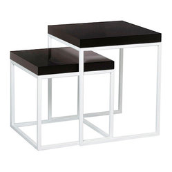 Prairie Niche 22 End Tables, White