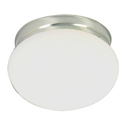 Premier - 8 inch Ceiling Light - Brushed Nickel - Premier 558733 8in. D by 5in. H Ceiling Fixture, Brushed Nickel Finish.