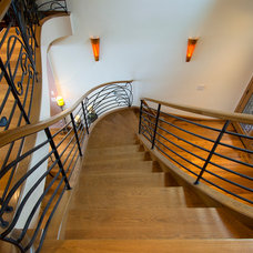 Eclectic Staircase by Seattle Stair & Design