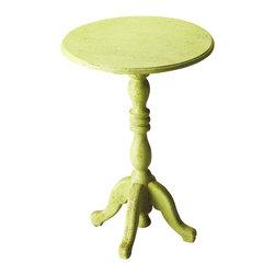 "Butler Specialty - Butler Duxbury Green Reclaimed Wood Pedestal Table - Butler Duxbury Green Reclaimed Wood Pedestal Table Recycled Mango wood solids 15.75""W x 15.75""D x 23.5""H"