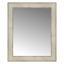 """Posters 2 Prints, LLC - 15"""" x 18"""" Libretto Antique Silver Custom Framed Mirror - 15"""" x 18"""" Custom Framed Mirror made by Posters 2 Prints. Standard glass with unrivaled selection of crafted mirror frames.  Protected with category II safety backing to keep glass fragments together should the mirror be accidentally broken.  Safe arrival guaranteed.  Made in the United States of America"""