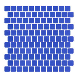 Susan Jablon Mosaics - Royal Blue Recycled Glass Tile With Matte Finish - This beautiful vibrant royal blue in 100% recycled glass has a matte finish with a square edge. Perfect on its own or blended in the mosaic designer. Suitable for interior and exterior installation. Eco-friendly never looked so good! Certified by the U.S. Green Building Council for L.E.E.D. Projects, the beauty of these recycled glass tiles prove you don't need to sacrifice to be sustainable. They are suitable for a wide range of uses, indoors and outdoors, in dry or wet locations. A custom mosaic design using these tiles can make a gorgeous, responsible, design statement in your pool, kitchen bathroom, dining room – anywhere! It is very easy to install as it comes by the square foot on mesh and it is very easy to clean! About a decade ago, Susan Jablon re-ignited her life-long passion for mosaics and has built a customer-focused, artist-driven, business offering you the very best in glass and decorative tiles and mosaics. We are a glass tile store committed to excellence both personally and professionally. With lines of 100% SCS Qualified recycled tile, 12 colors and 6 shapes of mirror, semi precious turquoise stones from Arizona mines, to color changing dichroic glass. Stainless steel tiles in 8mm and 4mm and 12 designs within each, and anything you can dream of. Please note that the images shown are actual photographs of the tiles however, colors may vary due to the calibration of each individual monitor. Ordering samples of the tiles to verify color is strongly recommended.