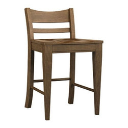 Broyhill Furniture - Color Cuisine Honey Low Back Counter Stool (Set of 2) - 521 -