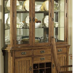 Somerton Dwelling - Somerton Dwelling Craftsman China Cabinet Multicolor - SOMER348 - Shop for China from Hayneedle.com! With a rustic Mission style the Somerton Dwelling Craftsman China Cabinet is the perfect way to put your china on display. This cabinet offers more than enough storage in its four drawers pair of storage spaces spacious cabinet and 9-bottle wine rack. It is made to last from durable hardwood solids with oak veneers. The attention to detail makes this cabinet stand out from the crowd with diamond inlays.About Somerton DwellingFor over 20 years Somerton Dwelling has meant quality furniture and a quality company. Its warehouses and distribution centers located both in the United States and China provide environmentally friendly manufacturing locations as well as mindful employment spaces. Quality materials such as eco-friendly rubberwood solid wood and wood veneers are used to create Somerton Dwelling pieces ... and any Somerton Dwelling furnishing you choose will make a welcome stylish addition to your home.