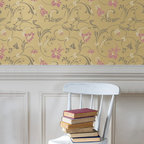 Small Flourish Allover Stencil - Small Flourish Allover Stencil from Royal Design Studio Stencils. Stenciling your own custom wallpaper pattern is easy and you can customize with the color of your choice.