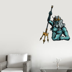 Greek God Vinyl Wall Decal GreekGodUScolor016; 72 in. - Vinyl Wall Decals are an awesome way to bring a room to life!