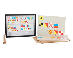 Yellow Owl Workshop - Nautical Flag Card Set - Printed in San Francisco with veggie-based inks.