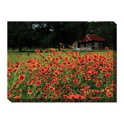 West of the Wind - West of the Wind Old Homestead Canvas Art - 40 x 30 in. - OU-73311 - Shop for Wall Art from Hayneedle.com! Vivid flowers blooming with abandon the West of the Wind Old Homestead Canvas Art - 40 x 30 in. brings the feel of summer to your favorite spot. This piece is designed durable enough to decorate outdoors or in. The photo-realistic image is printed with archival-quality ink on weather-resistant canvas so it won't fade or warp. The canvas is gallery wrapped and ready to hang.About West of the Wind:West of the Wind creates beautiful all-weather art designed to bring color and elegance to your outdoor space. Each Giclee print is waterproof and UV protected ensuring they stand up to the elements. West of the Wind uses Giclee technology to produce sharp vibrant photos.