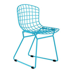 Zuo Modern - Zuo Baby Wire Chair in Blue [Set of 2] - Baby Wire Chair in Blue by Zuo Modern Baby Wire children's chair suits every living space where children play. Made out of chrome steel for the base and flexible, high-resilient polyurethane as a Cushion in. Chair (2)