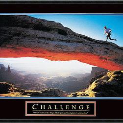 None - Challenge: Runner' Framed Art Print - Title: Challenge: RunnerProduct type: Framed Print ArtStyle: Casual