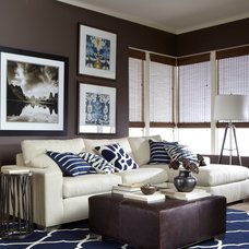 Eclectic Family Room by Ethan Allen