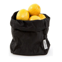 Uashmama Paper Bag, Black, Large - Choosing the finishing touches for a space is one of the most fun and important aspects of decorating. This bread bag can be easily molded and tucked away. It's the perfect storage solution.