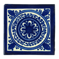 Indigo Talavera Tiles, Box of 15