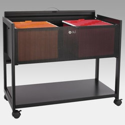 Steel Adjustable Locking Large Mobile Filing Cabinet