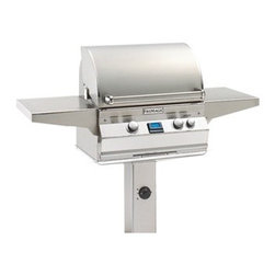 "Fire Magic - Aurora A430s1E1NG6 In-Ground Post Mount NG Grill - A430 In-Ground Post Mount Grill OnlyAurora A430s-G6 Features: Cast stainless steel ""E"" burners - guaranteed for life"