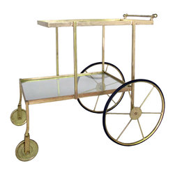 Drink Up Bar Cart - Have bar cart: will travel. That's your new motto with this zippy and classy bar cart on wheels. Stock it up with all your favorites and you'll be the most popular person at the next party.
