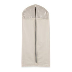 Household Essentials/real Simple - Household Essentials Cedarline Collection Hanging Suit/Dress Bag - Keep your finest attire looking crisp and fresh with this Hanging Suit/Dress Bag by Household Essential's Cedarline Collection. Crafted of breathable, sturdy cotton canvas, this bag holds up to wear and extends the life of your favorite garments.