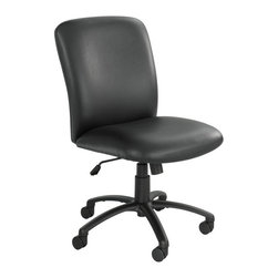 Safco - Safco Uber Big and Tall High Back Chair - Vinyl - 3490BV - Shop for Chairs from Hayneedle.com! About Safco ProductsSafco products were specifically developed to meet the changing needs of the business world offering real design without great expense. Each product is designed to fit the needs of individuals and the way they work by enhancing comfort and meeting the modern needs of organization in the workplace. These products encourage work-area efficiency and ultimately work-life efficiency: from schools and universities to hospitals and clinics from small offices and businesses to corporations and large institutions airports restaurants and malls. Safco continues to offer new colors new styles and new solutions according to market trends and the ever-changing needs of business life.