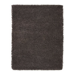 Graphite Silky Shag Rug - Softer and silkier than traditional shag rugs made from wool or synthetic fibers. Uniquely luxuriant look and feel due to custom specified blended yarn (50% rayon made from bamboo, 50% cotton)..