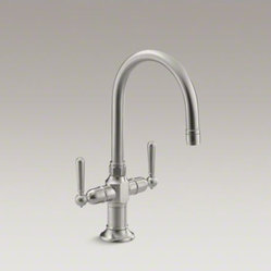 KOHLER HiRise single-hole bar sink faucet with lever handles