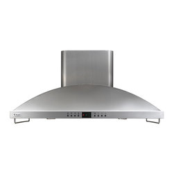 """GE Monogram 42"""" island dual-blower hood, 1040 CFM - Graceful European styling combines with versatile performance in these stunning chimney hoods, available in island and wall-mounted configurations."""