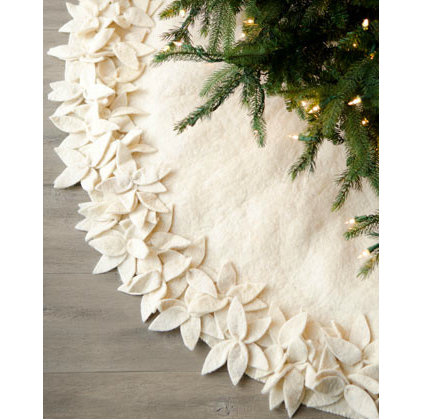 Contemporary Christmas Tree Skirts Contemporary Holiday Decorations