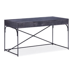 ZUO ERA - Potrero Hill Desk Distressed Black - Potrero Hill Desk Distressed Black