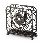 Paula Deen - Paula Deen Signature Pantryware Upright Napkin Holder - Add visual interest and convenience to your home with this metal napkin holder from Paula Deen. Featuring a dark bronze finish and charming rooster motif, this upright napkin holder will make a beautiful addition to your kitchen decor.