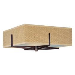 ET2 - ET2 E95440-101 Elements 3-Bulb Flush Mount Indoor Ceiling Fixture - Fabric Shade - Product Features: