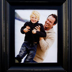 MyBarnwoodFrames - Black Picture Frames 8x10 Black Wood Photo Frame 2.5 inch Profile - Black  Picture  Frames  -  8x10  Black  Wood  Photo  Frame  -  2.5  inch  Profile          Black  Picture  Frame,  8x10  wood  photo  frame  with  hand-distressed  (sanded)  edges.  This  elegant  8x10  picture  frame  is  a  beautiful  addition  to  any  room  with  an  attractive  scoop  edge  and  exquisite  detail.  Solid  hardwood,  it  will  last  a  lifetime.  Hand  distressed  edges.