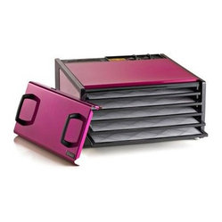 Excalibur D500RB 5 Tray Food Dehydrator with Timer - Radiant Raspberry