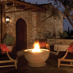 Outdoor Fire Bowl - Marabela Oak Barrel - MARABELLA OAK BARREL FIRE BOWL - For details and additional information on our fire bowls, please contact us at 330-483-3400 or visit our website at ValleyCitySuply.com.