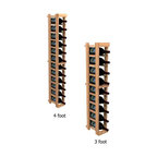 """Wine Cellar Innovations - One Column Winemaker Series Individual Bottle Kit Wine Rack in Premium Redwood M - Each wine bottle stored on this one column individual bottle wine rack is individually cradled. All Winemaker wine racks must be mounted 1 1/2"""" off the wall to ensure proper wine bottle stability. Assembly Required."""