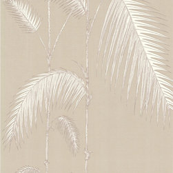 Cole & Son - Cole & Son Palm Leaves Taupe/W Wallpaper (Sample) - Wallpaper CalculatorCole and Son are one of the last remaining producers of hand-flocked wallpaper like this, still using their traditional method, which has not changed in the last 200 years.