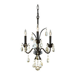 Murray Feiss - Murray Feiss F2756/3LBR Charlene 3 Bulb Liberty Bronze Chandelier - Murray Feiss F2756/3LBR Charlene 3 Bulb Liberty Bronze Chandelier