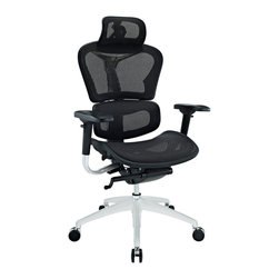 Modway - Modway EEI-234 Lift Highback Office Chair in Black - Years of extensive research have paid off to develop the Lift mesh chair. Alleviate back pain with a proprietary dual-plane system that supports both the lumbar and shoulder regions. The wide angle waterfall seat pan eases under-thigh pressure while keeping weight off your lower vertebrae. Easily personalize Lift with seat depth controls that adjust to your build and posture.