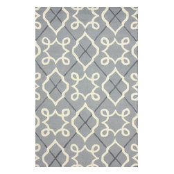 """nuLOOM - Contemporary 7' 6"""" x 9' 6"""" Grey Hand Tufted Area Rug Trellis VS73 - Made from the finest materials in the world and with the uttermost care, our rugs are a great addition to your home."""