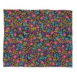 DENY Designs - Joy Laforme Wild Blooms Fleece Throw Blanket - This DENY fleece throw blanket may be the softest blanket ever! And we're not being overly dramatic here. In addition to being incredibly snuggly with it's plush fleece material, it's maching washable with no image fading. Plus, it comes in three different sizes: 80x60 (big enough for two), 60x50 (the fan favorite) and the 40x30. With all of these great features, we've found the perfect fleece blanket and an original gift! Full color front with white back. Custom printed in the USA for every order.