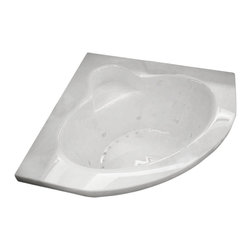 Arista - Angelico 60 x 60 Corner Drop-In Bathtub with Whirlpool Jetted & Air Therapy Jets - DESCRIPTION