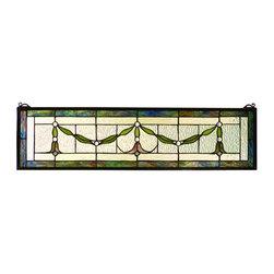 Meyda - 31.5 Inch W X 8 Inch H Garland Swag Window - Color Theme: Zar Pbag Kalt Clear