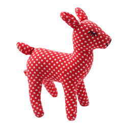 Pakhuis Oost - Fawn Star Cuddle Toy - Kids and parents will fawn over this soft, snuggly cuddle toy. This adorable little fawn is safe for babies and could also join your preschooler in an imaginary woodland game. It's a great bedroom decoration, too.