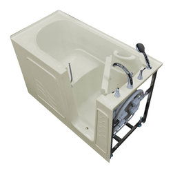 Arista - 30 x 60 Right Drain Biscuit Soaking Walk-In Bathtub - Soaaker Tub - DESCRIPTION