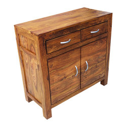 Appalachian Rustic Solid Wood 2 Drawer 2 Door Storage Accent Cabinet - Manufacturing details