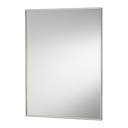 Broan-NuTone - Broan-Nutone Basic S-Cube Stainless Steel 16W x 26H in. Recessed Medicine Cabine - Shop for Bathroom Cabinets from Hayneedle.com! The Styleline series gives you that classic mirror-door cabinet with NuTone's quality and grace - and the great look of stainless steel. The reversible hinges mean this model could open either way making it a great-looking glass medicine cabinet for right- or left-handers or right- or left-handed areas.About Broan-NuToneBroan-NuTone has been leading the industry since 1932 in producing innovative ventilation products and built-in convenience products all backed by superior customer service. Today they're headquartered in Hartford Wisconsin employing more than 3200 people in eight countries. They've become North America's largest producer of medicine cabinets ironing centers door chimes and they're the industry leader for range hoods bath and ventilation fans and heater/fan/light combination units. They are proud that more than 80 percent of their products sold in the United States are designed and manufactured in the U.S. with U.S. and imported parts. Broan-NuTone is dedicated to providing revolutionary products to improve the indoor environment of your home in ways that also help preserve the outdoor environment.