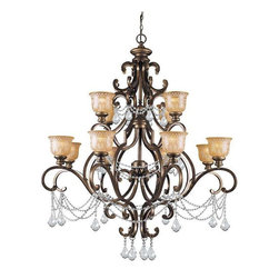 Crystorama Lighting - Crystorama Lighting 7512-BU-CL-MWP Norwalk Transitional Chandelier - Crystorama Lighting 7512-BU-CL-MWP Norwalk Transitional Chandelier in Bronze Umber with Clear Hand Cut Crystal